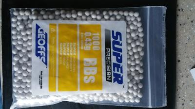 GEOFFS SUPER PRECISION .43g BB 1000 COUNT BAG